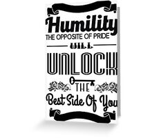 Humility Vintage Typography Shirt Greeting Card