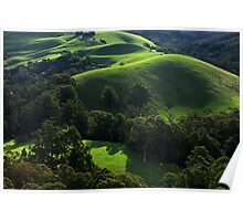Green waves of Gippsland Poster