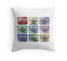 80's Tape Cassettes Throw Pillow