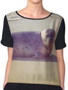 Sand, Sea and a Seal Chiffon Top