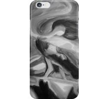 Dancing Fire - Black and White iPhone Case/Skin