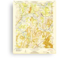 USGS TOPO Map Alabama AL Triana 305235 1951 24000 Canvas Print