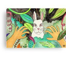 Psychedelic Rabbit Canvas Print