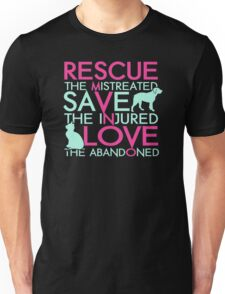 Rescue save love dog and cat Unisex T-Shirt