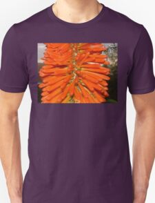 The Red Hot Poker and the baby Praying Mantis Unisex T-Shirt