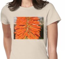 The Red Hot Poker and the baby Praying Mantis Womens Fitted T-Shirt