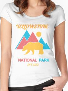 YELLOWSTONE Women's Fitted Scoop T-Shirt