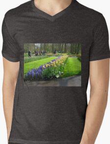 Tulips and Hyacinths - Keukenhof Gardens Mens V-Neck T-Shirt