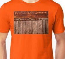 grunge wood panel semi truck Unisex T-Shirt