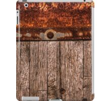 grunge wood panel semi truck iPad Case/Skin