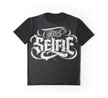 Grunge Goth Tattoo Hand Lettering - Epic Selfie - Black - Be Bold! Calligraphy Graphic T-Shirt