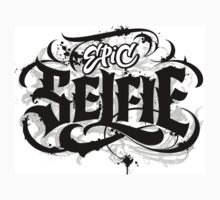 'Epic Selfie' Black Goth Grunge Tattoo Hand Lettering Calligraphy One Piece - Short Sleeve