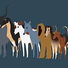 Sighthound Line Up by Ashley Siemon