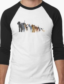 Sighthound Line Up Men's Baseball ¾ T-Shirt