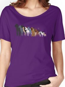 Sighthound Line Up Women's Relaxed Fit T-Shirt