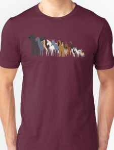 Sighthound Line Up Unisex T-Shirt