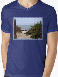 Fence Beside the Beach Path Mens V-Neck T-Shirt
