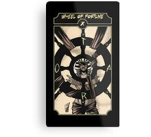 Wheel of Fortune - Sinking Wasteland Tarot Metal Print