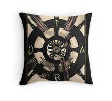 Wheel of Fortune - Sinking Wasteland Tarot Throw Pillow