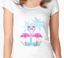 Summer Flamingo Women's Fitted Scoop T-Shirt