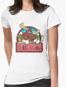 Frost Bite Falls Bullwinkles Womens Fitted T-Shirt