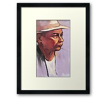 Portrait of Raf - oil sketch Framed Print