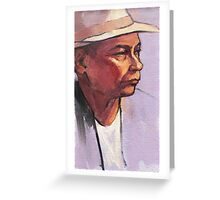 Portrait of Raf - oil sketch Greeting Card