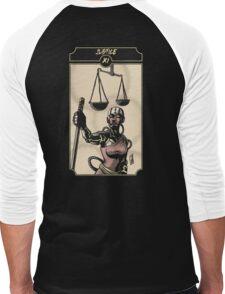 Justice - Sinking Wasteland Tarot Men's Baseball ¾ T-Shirt