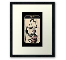 Justice - Sinking Wasteland Tarot Framed Print