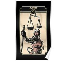 Justice - Sinking Wasteland Tarot Poster