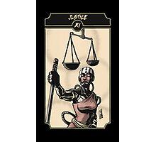 Justice - Sinking Wasteland Tarot Photographic Print