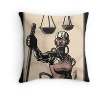 Justice - Sinking Wasteland Tarot Throw Pillow