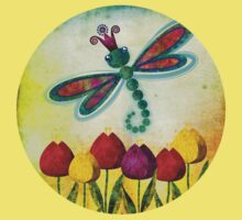 Dragonfly & Tulips Baby Tee