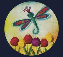 Dragonfly & Tulips Kids Tee