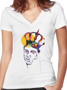 King Tubby's Hi - Fi Women's Fitted V-Neck T-Shirt