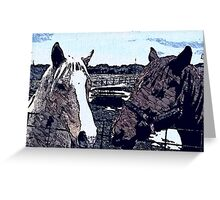 Horse Farm Greeting Card