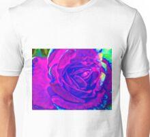 Purple Fractalius Rose  Unisex T-Shirt