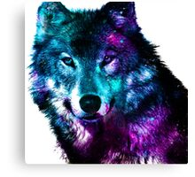 Wolf - The Pack & Night life Canvas Print