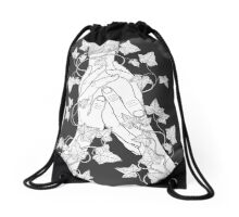 pay attention (b&w) Drawstring Bag