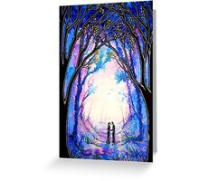 First Kiss - Trees Greeting Card