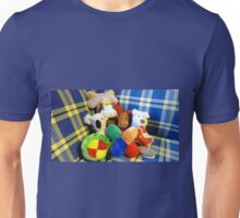 Eddie's Toys - sit on settee in Family room Unisex T-Shirt