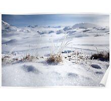 Tignes, France, Ski resort snowscape  Poster