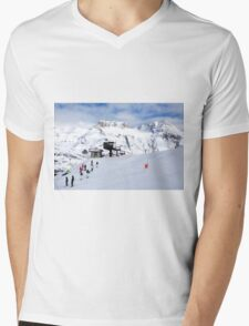 Tignes, France, Ski resort Mens V-Neck T-Shirt