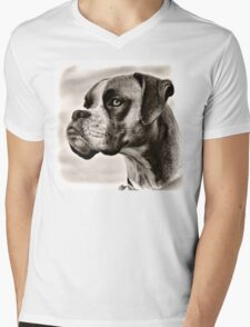 Boxer Profile Mens V-Neck T-Shirt