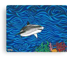 Psych Shark Canvas Print
