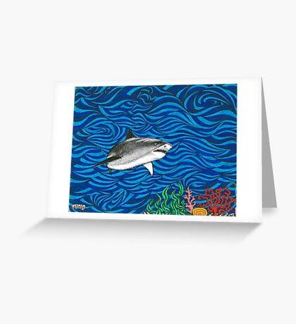 Psych Shark Greeting Card