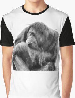Orangutan in Black & White Graphic T-Shirt