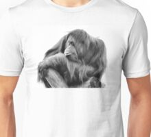 Orangutan in Black & White Unisex T-Shirt