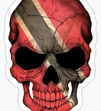 Trinidadian Flag Skull Sticker