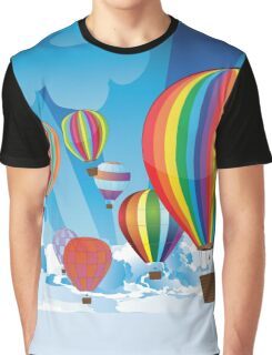 Air Balloons in the Sky 3 Graphic T-Shirt
